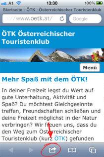 ÖTK Website am iPhone