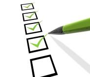 Ausrüstung Checklisten