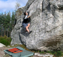 Bouldern am Fels