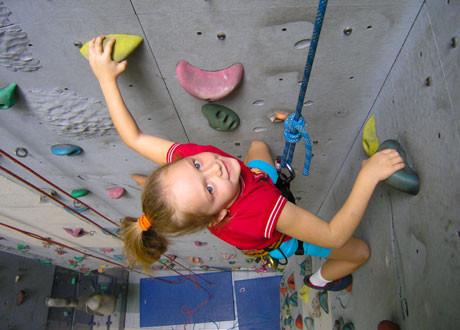 Schnupperklettern für Kinder, ÖTK-Kletterhalle
