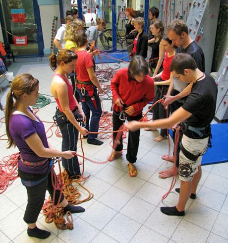 Kletterkurse für Schulen und gruppen