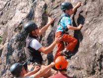 Klettergarten mit Schulkinder