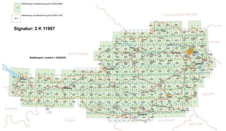 Österreich Topographische Karte, Bundesmeldenetz