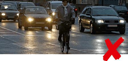 Fahrrad Nacht schlechte Sicht