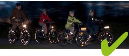 Fahrrad richtig beleuchtet