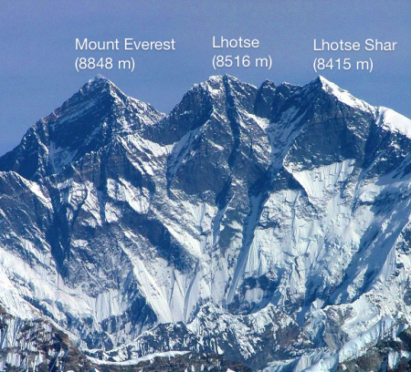 Mount Everest, Lhotse, Lhotse Shar