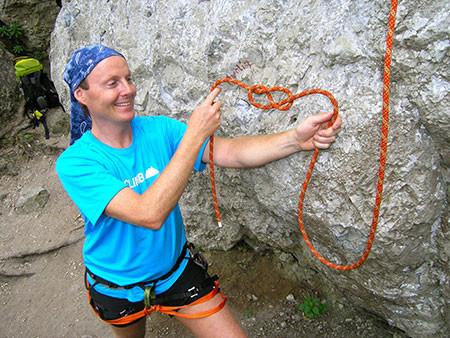 Alpines Klettern lernen, Knotentechnik