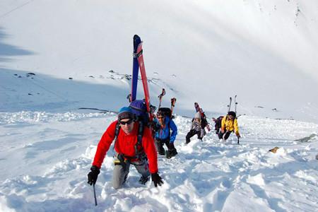Begehen von hochalpinen Gipfelanstiegen
