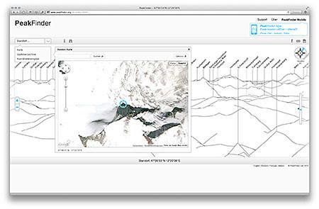 Peakfinder - Desktop-Variante