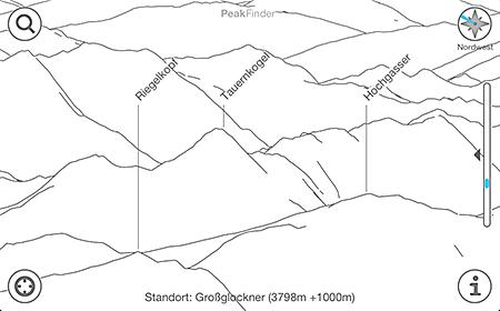 Peakfinder - Vogelperspektive