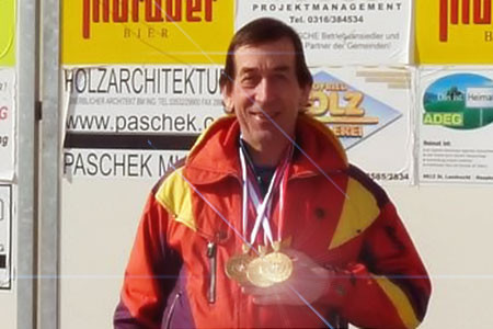 Sieger in den Bewerben Super G, Riesentorlauf und Slalom