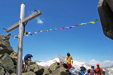 Tibetanische Friedensflaggen am Krimmler Tauern Pass