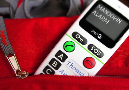 Doro HandlePlus 334gsm mit Notrufauslösung bei Sturz