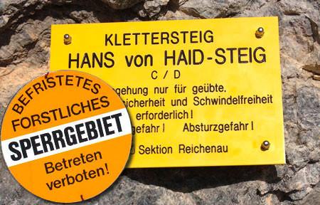 Hans von Haid-Steig Forstarbeiten
