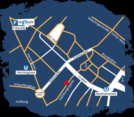 Lageplan Time Travel Vienna, 1010 Wien, Habsburgergasse