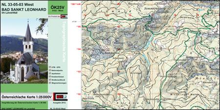 Österreichische Karte 1:25 000V-UTM, ÖK25V-UTM