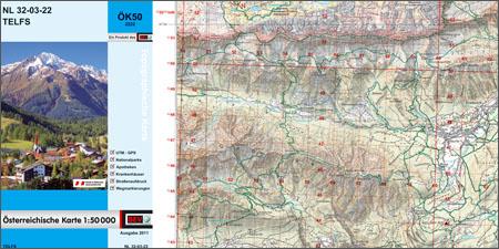 Österreichische Karte 1:50 000-UTM, ÖK50-UTM