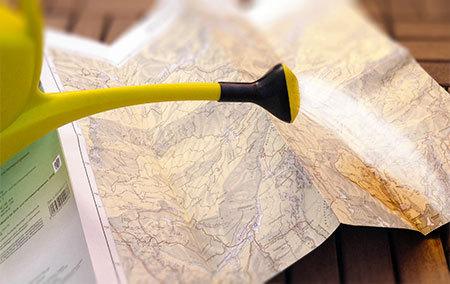 Landkartenpapier