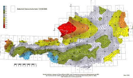 Geoidundulationen in Österreich