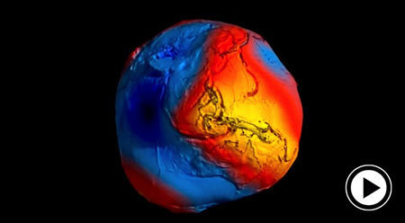 Geoid, Erde, Rotationsellipsoid