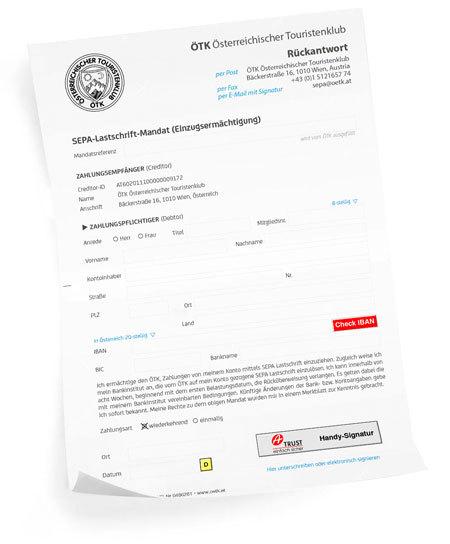SEPA Lastschrift zur Bezahlung deines Mitgliedbeitrages
