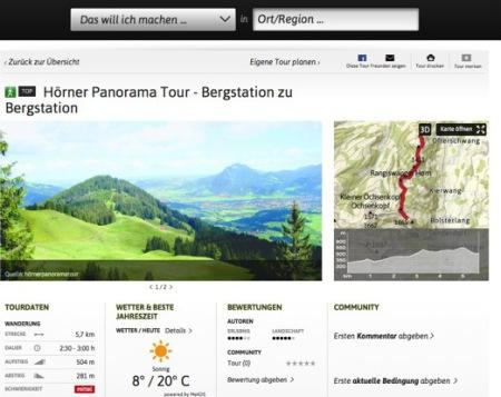 ÖTK, Tourenplanung, outdooractive, online