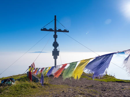 Sonnenaufgang, Gipfel, Berg, Wandern, Kurs, ÖTK