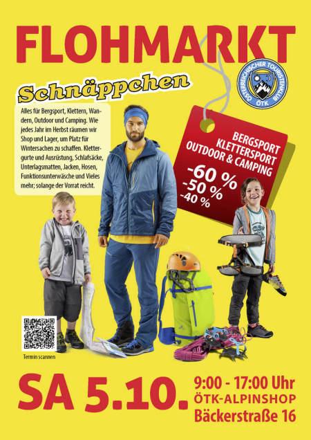 ÖTK Alpinshop Flohmarkt Outdoor Camping Klettern Alpinausrüstung Abverkauf