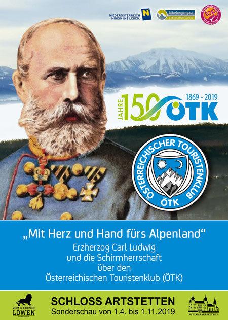 Sonderausstellung 150 Jahre ÖTK Österreichischer Touristenklub Schloss Artstetten Erzherzog Carl ludwig