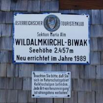 Wildalmkirchl-Biwak ÖTK